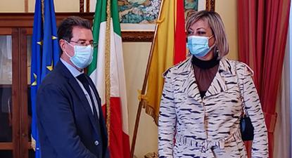 Il Commissario Raffo e il Sindaco di Villalba Immordino