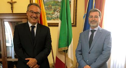 Il neo segretario generale Pietro Nicola Amorosia col commissario Raffo
