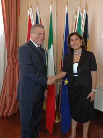 Il Commissario straordinario e il nuovo Presidente della Provincia Eugenio d?orsi